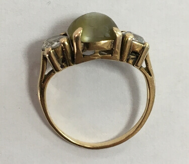 Full Restoration of Catseye Ring - Before