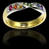 Multi Coloured Stone Dress Ring