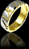 Palladium Skinned Gold Wedding Ring