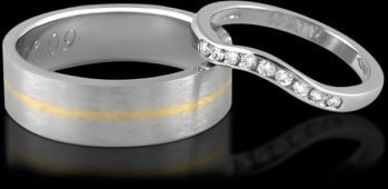 Wedding Ring & Engagement Ring Set
