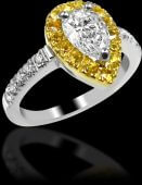Yellow Sapphire Cluster Ring